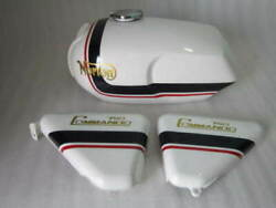 Norton Commando Roadster 750 Logo Petrol Tank With Side Panel White Painted