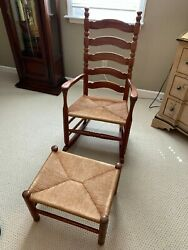 Woodyand039s Chairs Rocking Chair. Matching Foot Rest Included.andnbsp