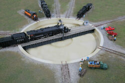 Walthers Cornerstone N Scale Train Building Motorized 130ft Diameter Turntable