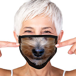 Yorkshire Terrier Yorkie Cover Your Face Reusable Washable Face Mask