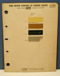 1964 FORD CANADA PASSENGER CAR COLORS DUPONT CANADA PAINT CHIP SAMPLES CHART