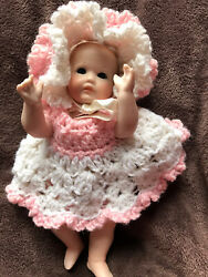 5 Inch Vintage Bisque Delia Infant Doll