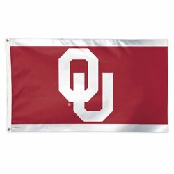 Oklahoma Sooners White Stripes 3'x5' Deluxe Flag Brand New Wincraft 😎