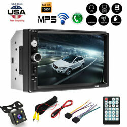 Camera Car Touch Radio Mp5 Stereo Player With Rear 2din 7in Screen Hd Bluetooth