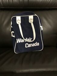 2 Wardair Vintage Retro Defunct Airline Carry On Travel Bags