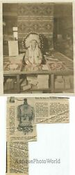 Indian Native American Chief With Wa-ne Future Reader Game Antique Photo