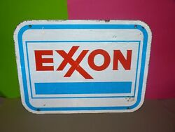 Exxon Sign Gas Station Interstate Highway Retired Gas Sign Exxon Mobil