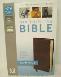 Niv Thinline Bible, Compact Bonded Leather Burgundy Red Letter Edition Zondervan