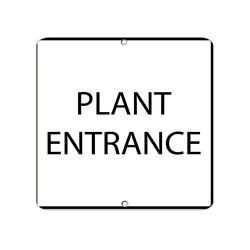 Square Metal Sign Multiple Sizes Plant Entrance Security Weatherproof Street