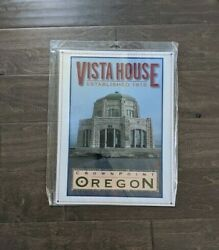 16 Vista House Crownpoint Oregon 3d Cutout Retro Usa Steel Plate Display Sign
