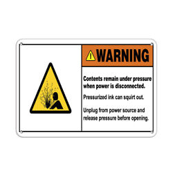 Horizontal Metal Sign Multiple Sizes Contents Remain Pressure Power Disconnected