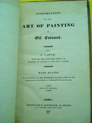 Rare 1822 Introduction To The Art Of Painting By J. Cawse With 8 Plates In Color
