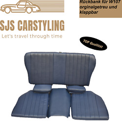 Back Seat Jump Seat For Mercedes Sl 107 Foldable True To The Original Blue