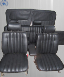 Interior Design For Mercedes Benz W123 Saloon, Black New Upholstered, Limited