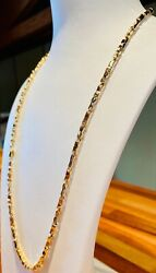 18k Yellow Gold Necklace - Italian Exclusive Item Length 19.7 Inches 13.40 Grams
