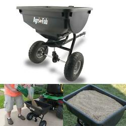 Behind Spreader 85 Lb Broadcast Tow Hopper Fertilizer Seed Atv Lawn Tractor Pull