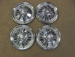 Original 1964 64 Corvette Hubcaps Set Unfrosted Driver Survivor Set Of 4 Hub Cap