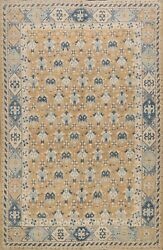 Vegetable Dye All-over Khotan Oriental Area Rug Living Room Wool Handmade 8and039x10and039