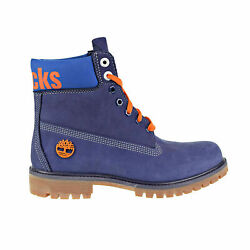 X Mitchell And Ness Ny Knicks 6and039 Premium Menand039s Boots Dark Blue Tb0a2493