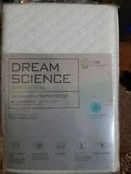 Dream Science by Martha Stewart Collection Bed Bug Pillow Protector Queen White