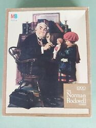 Norman Rockwell Jigsaw Puzzle Textured Doctor And Doll 1000 Pc Nib