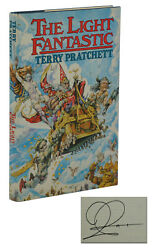 The Light Fantastic Signed By Terry Pratchett First American Edition 1st 1986