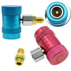 Refrigerant Connector Air Conditioner Replacement Adapter Fit For R1234yf 2pcs