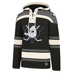 Nhl Hoody Anaheim Ducks Charcoal Hooded Pullover Lacer Jersey Hooded Sweater