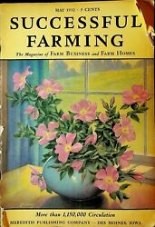 Successful Farming Magazine May 1932 Flower Cover J Murray Livestock Poultry