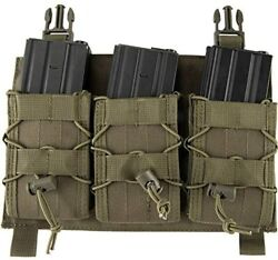 Click-in Hook And Loop Attach 223 308 Rifle Magazine Triple Pouch Placard