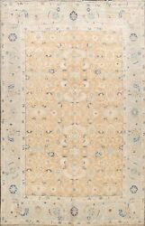 All-over Floral Brown Khotan Oriental Area Rug Hand-knotted Vegetable Dye 8and039x10and039