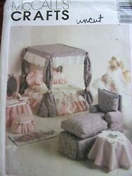 Uncut Mccalls 8140 Makes Barbie Doll Furniture/bed/tables/sofas Sewing Pattern