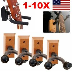 1-10x Guitar Hangers Hook Holder Wall Mount Display Instrument Acoustic Electric