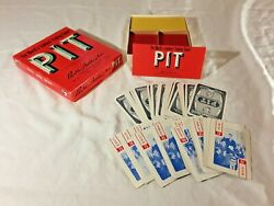 Vtg. Pit Card Game By Parker Brothers 1959 The World Liveliest Trading Game.