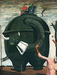 Printers Proof The Elephant Celebes Wall Art By Max Ernst