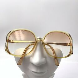 Vintage Tura TL322 Yellow Gold Oval Sunglasses Japan FRAMES ONLY $37.40