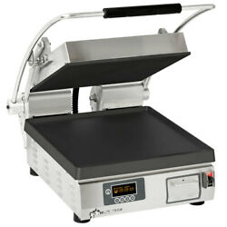 Star Pst14ie Pro-max Panini Grill Smooth Iron Plates Single 10-3/8 X 23