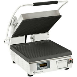 Star Pgt14ie Pro-max Panini Grill Grooved Iron Plates Single 19w X 23d