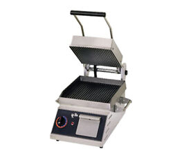 Star Pgt7i Two Sided Panini Sandwich Grill - Iron / Grooved -10 X 10