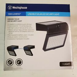 Westinghouse 1000 Lumen Linkable Solar Led Motion-activated Security Light New