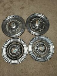 1964 Buick Special Wheel Covers, Hubcaps, Set Of 4 Chrome With Center Caps