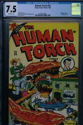 Human Torch 25 - Cgc-7.5, Ow - Timely - Sub-mariner
