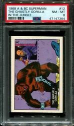 1968 A And Bc Superman In The Jungle 12 Ghastly Gorilla Pop 5 Psa 8 N2916467-364