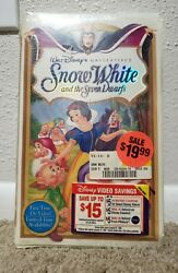 New Snow White And The Seven Dwarfs Masterpiece Edition Rare Disney Vhs Vintage