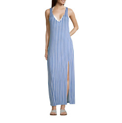 Lm Beach Striped Dress Swimsuit Cover Up Size S M L XL Msrp $42.00 New $19.99