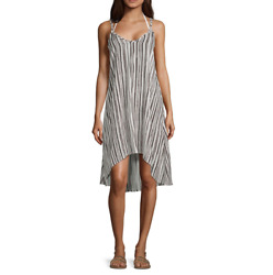 Lm Beach Striped Dress Swimsuit Cover Up Size M L XL Msrp $42.00 New $19.99