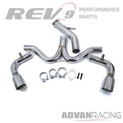 Axle-back Exhaust For Elantra Gt Sport N-line 19-20 Stainless Steel Rev9