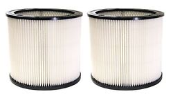 Replacement Cartridge Filter For Shop-vac Vacuums Wet/dry 5 Gal 2 Pack