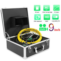 9 1080p 30m Drain Pipe Sewer Inspection Dual Camera System Waterproof Dvr 16g