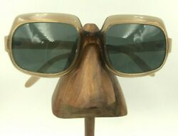 Vintage Cool Ray Polaroid Set Sail Brown Oversized Oval Sunglasses Frames $24.80